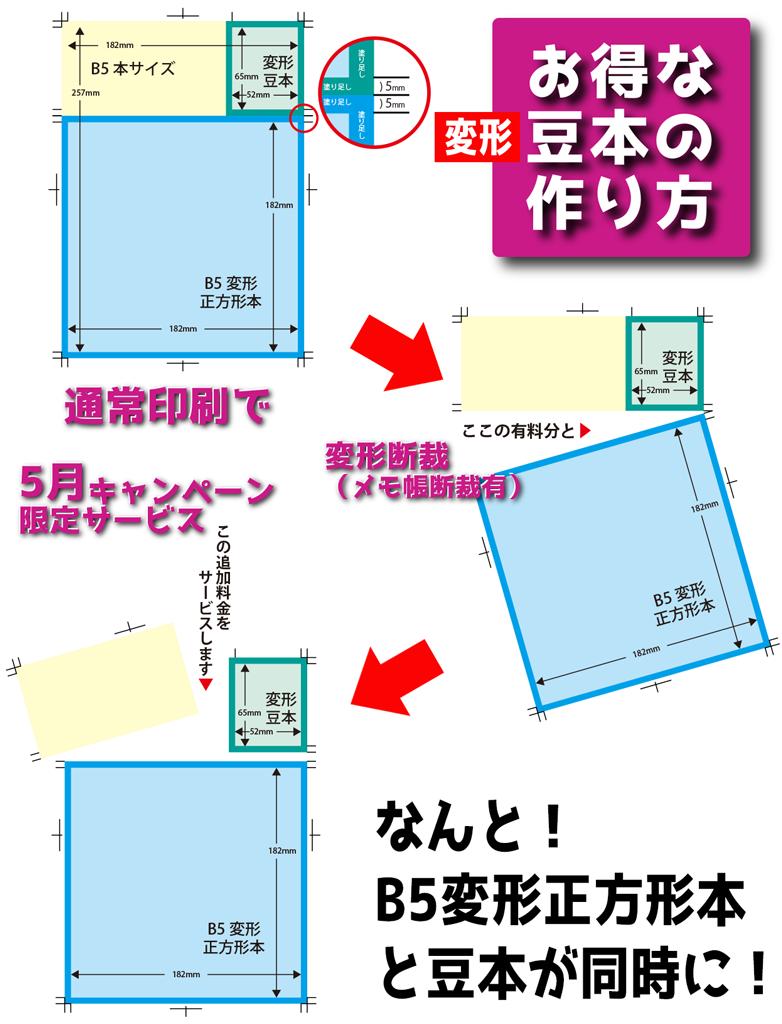 5月キャンペーン変形豆本と正方形本